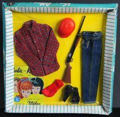 1964 Ken Going Huntin' Fashion 1409 MIB Rifle Barbie | eBay