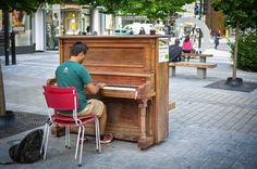 "This street piano in Montreal is yet another form of what's been dubbed ""tactical urbanism."""