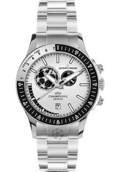 Price:$149.40 #watches JACQUES LEMANS U-29E, The 'U-29' of the Jacques Lemans 'UEFA Champions League' collection is a cool timepiece. Inside this watch a special soccer movement is ticking so you can time every match - from the first and the second half to the extra time. High grade material combined with unique details like a crown designed after the UEFA soccer ball turn this watch into the favorite timepiece of every soccer fan.