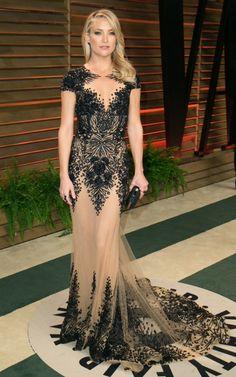 Kate Hudson in Zuhair Murad   Vanity Fair Oscar Party 2014