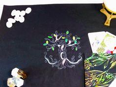 Tarot Spread Cloth Nature Tree Goddess