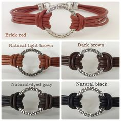 Once Upon A Time's Emma Swan silver circle leather bracelet.