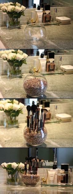 Easy Makeup Organizing #Fashion #Trusper #Tip
