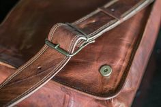 Leather Full Flap Genuine Mens Auth Real Leather Messenger Laptop Briefcase Satchel Mens Bag 10 x 13 ** You can get additional details at the image link. (This is an affiliate link) Brown Leather Messenger Bag, Leather Backpack, Leather Bags, Laptop Messenger Bags, Laptop Bag, Laptop Briefcase, Distressed Leather, School Bags, Real Leather