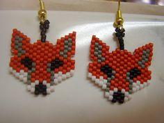 Native American Style Beaded Fox Animal by BeadedCreationsetc