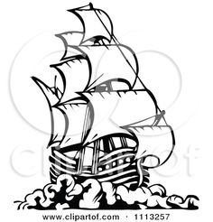 Old Ship Clipart - Clipart Kid