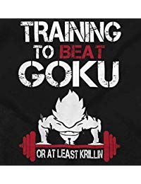 Training to Beat Goku Saiyan Gym DBZ Anime Tee T-Shirt