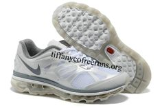 Womens Nike Air Max 2012 White Dark Grey Shoes  $ 59.99