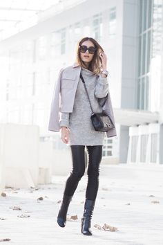 """Lydia Elise Millen wearing the grey suede jacket from #DorothyPerkins """"There are few fabrics that transition from season to season as seamlessly as suede, channelling boho vibes during the warmer months and encapsulating 70's chic as the temperature drops""""."""