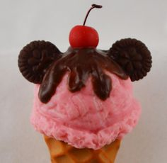 American Girl Disney inspired Mouse Waffle Ice Cream Cone by StaceyMorganStudios, $6.25