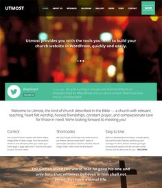 This church WordPress theme offers a flat design, a responsive layout, photo and video galleries, staff, calendar, news, and contact pages, easy color, background, and font customization, more than 600 Google Fonts, and more.