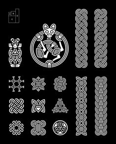 Borre Style c. 850 – 950 … The Anatomy of Viking Art Introduction (August Broa Style (July Oseberg Style Borre Style Jelling Style Mammen Style Ringerike Style Urnes Style Shapes Ribbons consisting of lines. Tight knot-like i Casa Viking, Viking Art, Viking Symbols, Viking Runes, Mayan Symbols, Viking Ship, Egyptian Symbols, Viking Woman, Ancient Symbols