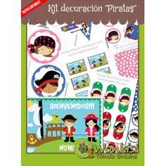 Piratas - Kit Decoración Fiesta Imprimible http://www.wonkistienda.com.ar/piratas-kit-decoracion.html