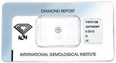 Foto 1, Diamant 0,33 IGI H Lupenrein Excellent Very Good Juwel!, D5859