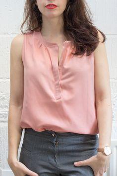 Handmade Wardrobe | biscayne blouse | Randomly Happy                                                                                                                                                     More