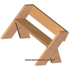 Another simple plan for the Aldo Leopold bench. Used Woodworking Tools, Small Woodworking Projects, Woodworking Furniture, Woodworking Workbench, Diy Pallet Furniture, Custom Furniture, Furniture Layout, Painted Furniture, Homemade Workout Equipment