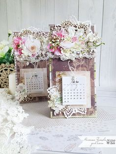 "Prodelki Belki: МК ""Настольный календарь"" для ScrapBox Calendar Notes, Diy Calendar, Calendar Design, Desk Calendars, Homemade Calendar, Post It Holder, Diy Home Crafts, Scrapbooking, Cardmaking"