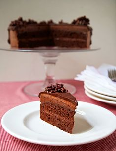 """""""Four Layer Chocolate Mousse Cake"""""""