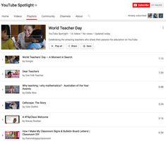 Featured on YouTube's #WorldTeachersDay Spotlight Playlist World Teacher Day, World Teachers, Ap Calculus, Community Channel, Teachers' Day, Spotlight, Public, Classroom, Passion