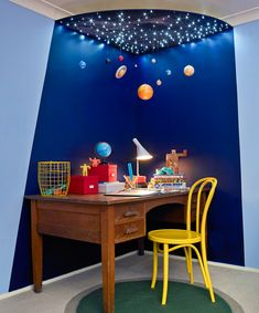 Better Homes and Gardens pattern sheet solar system - Yahoo New Zealand Room Ideas Bedroom, Boys Room Decor, Bedroom Themes, Boy Room, Solar System Room, Solar System Projects, Star Lights On Ceiling, Patterned Sheets, Space Theme