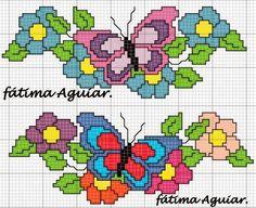 Resultado de imagem para graficos de ponto cruz borboleta