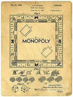 Monopoly - original patent drawing
