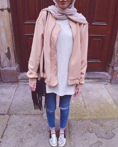 Hijab + Pink Jacket (modestmira_)