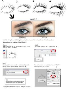Retouch PRO eyelash brush Tutorial