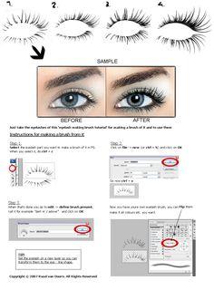 Retouch PRO eyelash brush Tutorial