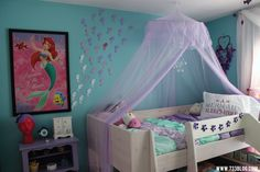 Mermaid Room Girl Room Bedroom Themes Little Mermaid Bedroom Girl S Mermaid Ro. Little Mermaid Bedroom, Mermaid Room Decor, Mermaid Kids Rooms, Teen Girl Bedrooms, Little Girl Rooms, Creative Kids Rooms, Bedroom Themes, Bedroom Ideas, Nursery Ideas