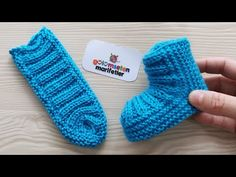 Very easy Knitting Newborn baby booties socks model made, Diy Abschnitt, Sie Baby Pullover Neugeborenen Very easy Knitting Newborn baby booties socks model made, Elf Slippers, Crochet Slippers, Baby Booties Knitting Pattern, Knitting Patterns, Easy Knitting, Knitting Socks, Crochet Baby, Knit Crochet, Crochet Flowers