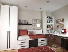 Дизайн спальной комнаты 9 кв. м - современные фото интерьеров
