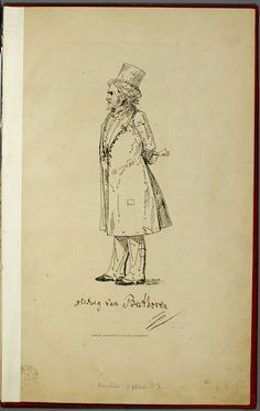 Beethoven etching by Johann Peter Lyser