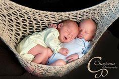 Babies snuggle