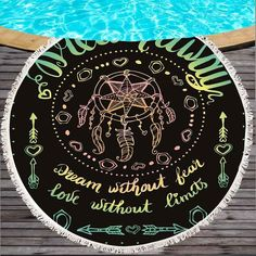 Pattern: printing Style: Jacquard Technology: Weaving Shape: round Pattern Type: Geometry Appearance: 150 cm with tassels Beach Yoga, Beach Mat, Cheap Blankets, Picnic Mat, Mandala Tapestry, Infant Activities, Geometry, Tassels, Weaving