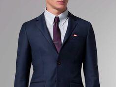 Indochino premium italian navy suit