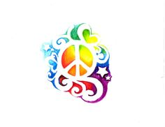 Peace Tattoos For Women - - Yahoo Image Search Results Peace Sign Tattoos, Peace Sign Symbol, Peace Sign Art, Symbol Tattoos, Star Tattoos, I Tattoo, Peace Signs, Tatoos, Totem Tattoo