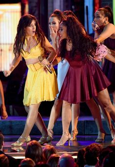 Camila Cabello Performs 'Havana' with Special Guests at Grammys 2019 (Video): Photo Camila Cabello opens the show in a bright yellow dress at the 2019 Grammy Awards on Sunday (February at the Staples Center in Los Angeles. Ricky Martin, Alexandra Daddario, Dangerous Woman, American Singers, Woman Crush, Special Guest, Beautiful Celebrities, Scarlett Johansson, Real Women