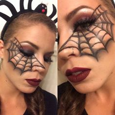 It's been almost a week since Halloween!! Boooo!!!! Lol! But before I forget forever.. Here are the makeup products details for this black widow spider costume!