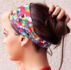 sporty updo with a headband