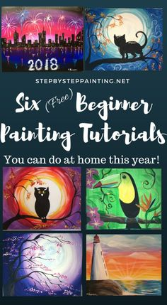 step by step canvas painting instructions