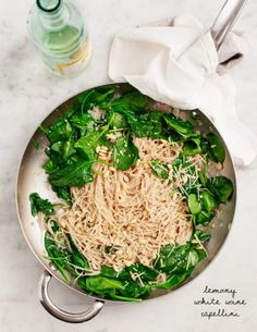 Lemony White Wine Capellini Recipe - Love and Lemons