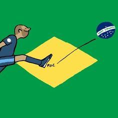 """""""Bravo les bleus"""", por Jean Jullien - http://www.colecaodecamisas.com/bravo-les-bleus-desenho-jean-jullien/ #colecaodecamisas #Copadomundo2014, #Jeanjullien"""