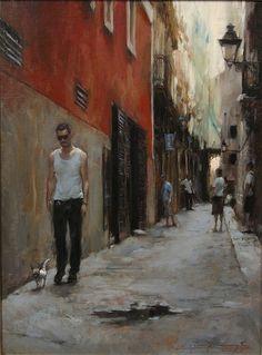 https://flic.kr/p/ahWrgD   Glenn Harrington - Barcelona Side Street  [Oil on linen, 24 x 18 inches]