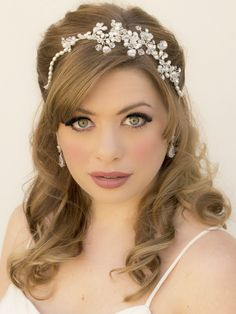 "Beaded Bridal Hair Vine ~ ""Lexi"" - Bridal Hair Accessories by Hair Comes the Bride"