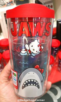 Universal Studios Hello Kitty Jaws Movie Poster Tervis Mug 16oz