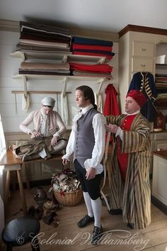 The Tailors at Colonial Williamsburg. Photo by David M. Doody