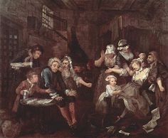 William Hogarth A Rakes Progress The Prison
