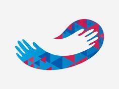 Proteção Solidária - Logo protection hands triangle fingers scarf fabric hug Kids Hugging, Popular Logos, Protection Logo, Gift Logo, Logo Sketches, Church Logo, Adobe Illustrator Tutorials, Typographic Logo, Hand Logo