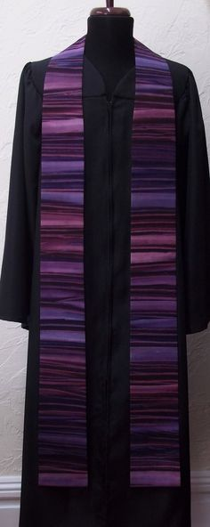 Purple Clergy Stole For Lent -- MADE TO ORDER in Your Custom Length. $97.00, via Etsy.